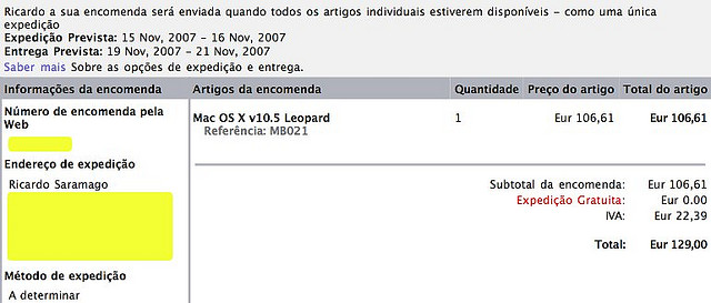 Apple Store Portugal – Buying Leopard