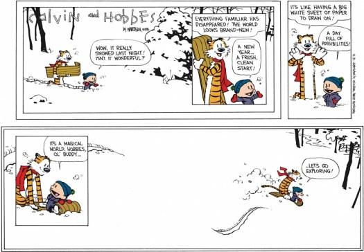 Calvin & Hobbes last strip