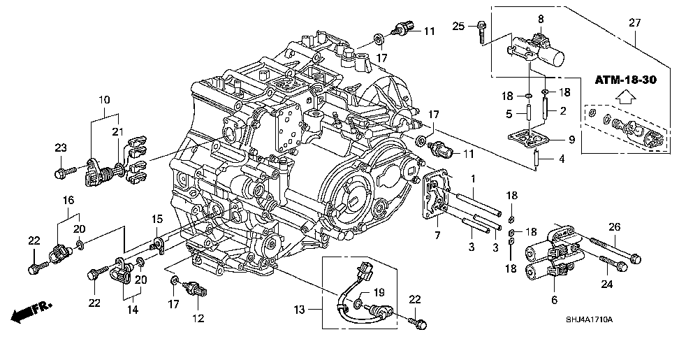 Honda Crv Shift Solenoid Location