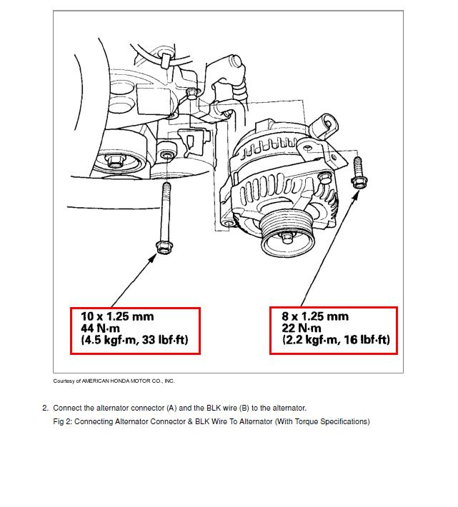 2012 Honda Accord Alternator Problem Wiring Diagram : 51