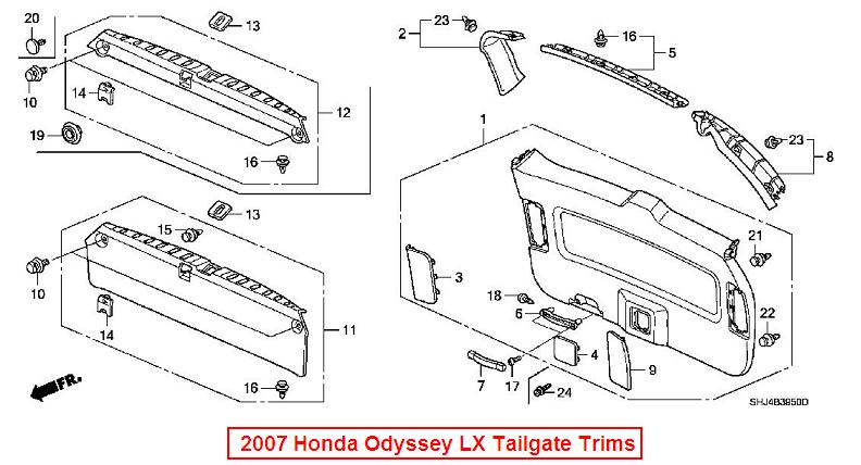 2014 Honda Odyssey Liftgate Parts Diagram. Honda. Auto