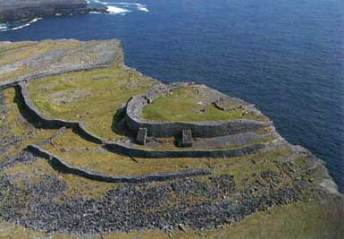 Aerial View of Dun Aengus Fort