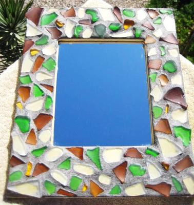 sea glass mosaic crafts sea glass tiles