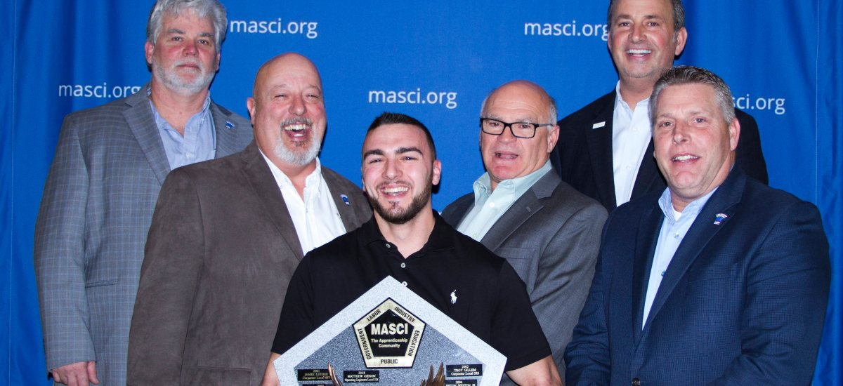 Operating Engineers 324 Matt Gibson Awarded MASCI's Apprentice of The Year