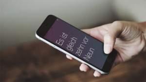Benutze die App »Meine Uhr« um Dir die Uhrzeit ansagen zu lassen