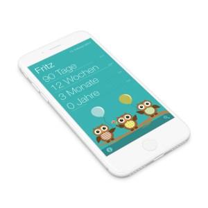 iPhone mit der App Baby Wochen - Die App für das Alter Deines Babys