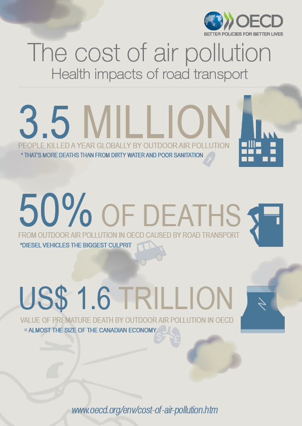Organisation for Economic Co-operation and Development (OECD) - Air Pollution Infographic