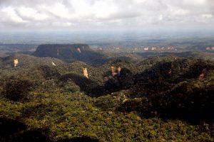 O Parque Nacional da Serra do Divisor (acima), é a única região montanhosa no Estado do Acre. A unidade protege 837 mil hectares no lado brasileiro. Foto: Sérgio Vale/Secom.