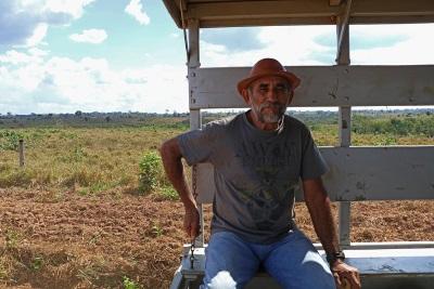 Seu André, morador da reserva há 50 anos. Foto: Duda Menegassi.