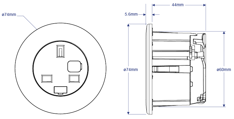 Pip, Circular AC power and USB charging, OE Electrics
