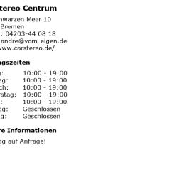 Car Stereo Centrum Bremen Lutron Grafik Eye 4000 Wiring Diagram ᐅ Offnungszeiten Am Schwarzen Meer 10 In Bilder Zu