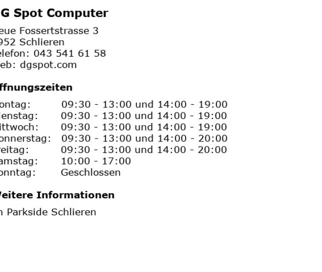 Bilder Zu Dg Spot Computer In Schlieren