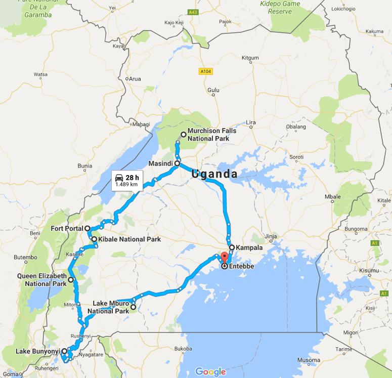 Safaritour Ouganda Fiets- en Safaritour