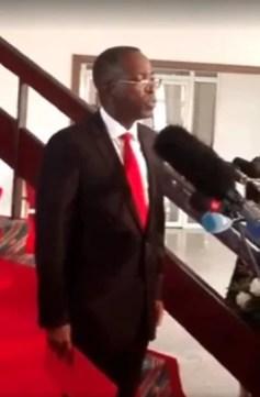 Matata Mponyo après avoir déposer sa démission.