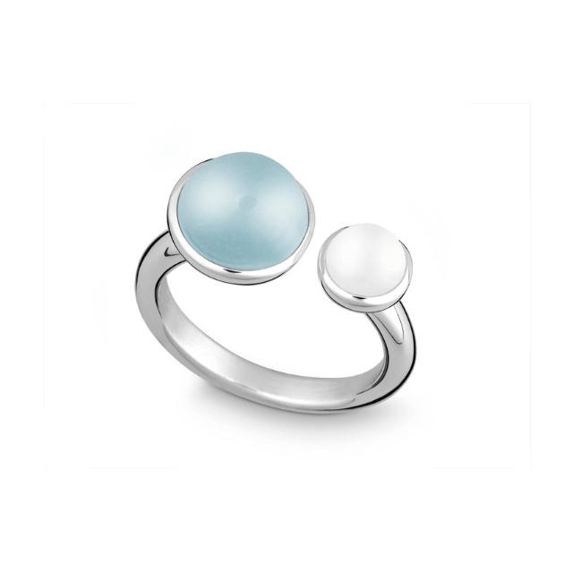 Silber Ring mit Blau Topas  Juwelier OEKE