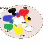 Ölfarben Palette