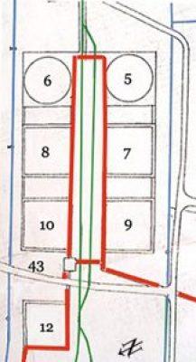 Ein weiteres Gebäude in der Skizze ist:  Nr. 43  Pumpenhaus