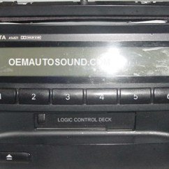 Wiring Diagram Car Stereo System 2003 Ford F350 Fuse Panel Toyota Corolla Radio 86120-02280 A56821 Tape Cd Player
