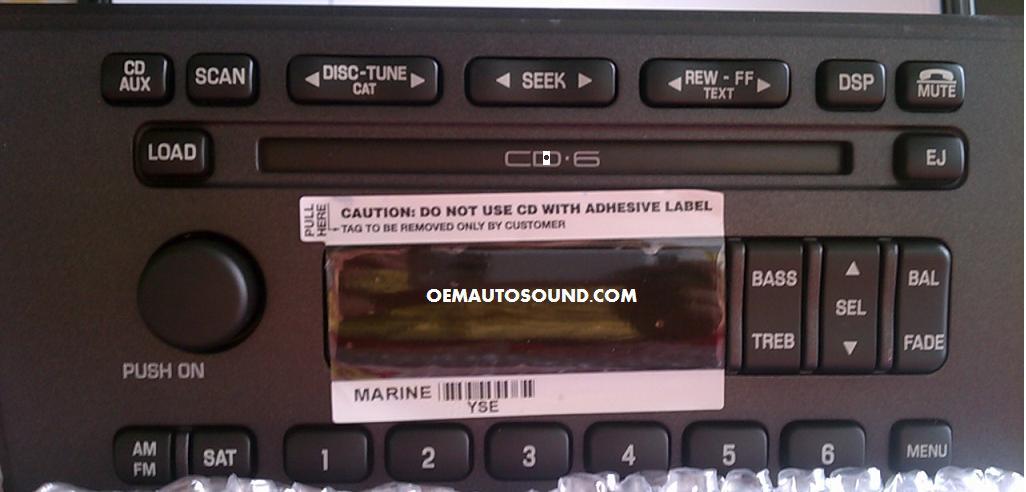 Amp Sub Wiring Diagram Ford Thunderbird Radio Cd6 Changer 4w6t 18c815 Ae