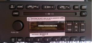 Ford Thunderbird oem cd changer radio cd6 4W6T18C815AE