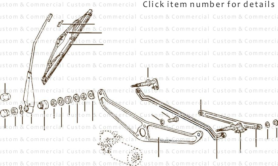 vw used and NOS beetle wiper parts 1968-1979 parts from