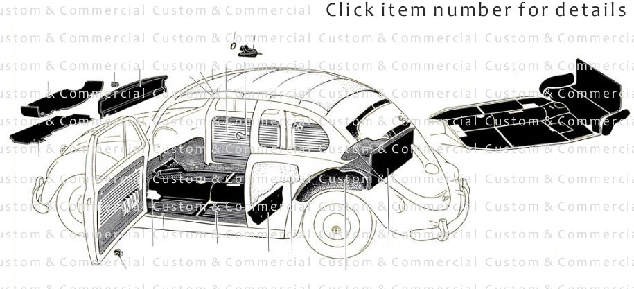 vw used and NOS beetle headliners door cards trunk liners