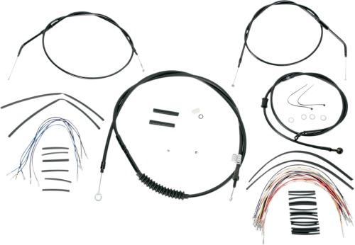Burly Brand Black Vinyl Cable/Line Kit For 12