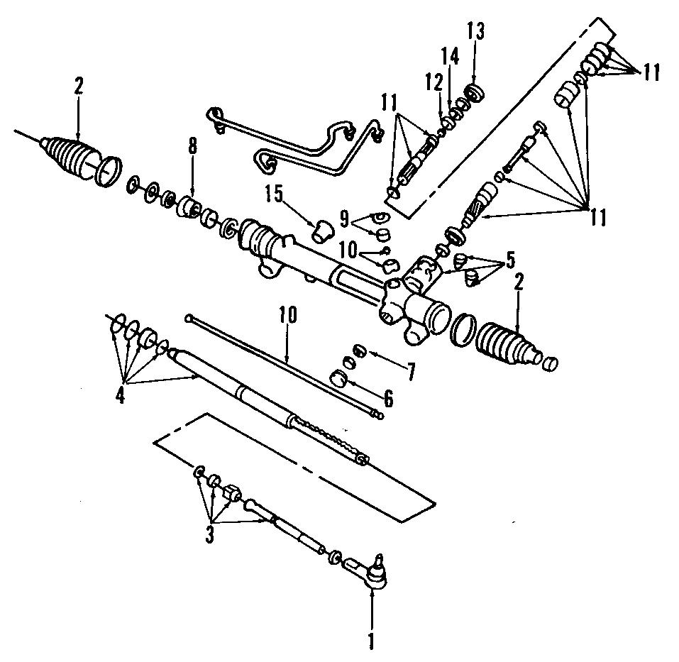 Ford Thunderbird Steering Tie Rod End. GEAR, POWER, Right