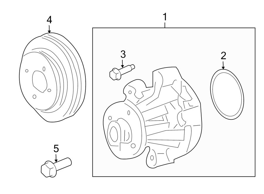 Ford Mustang Engine Water Pump Gasket. LITER, Vans, Super