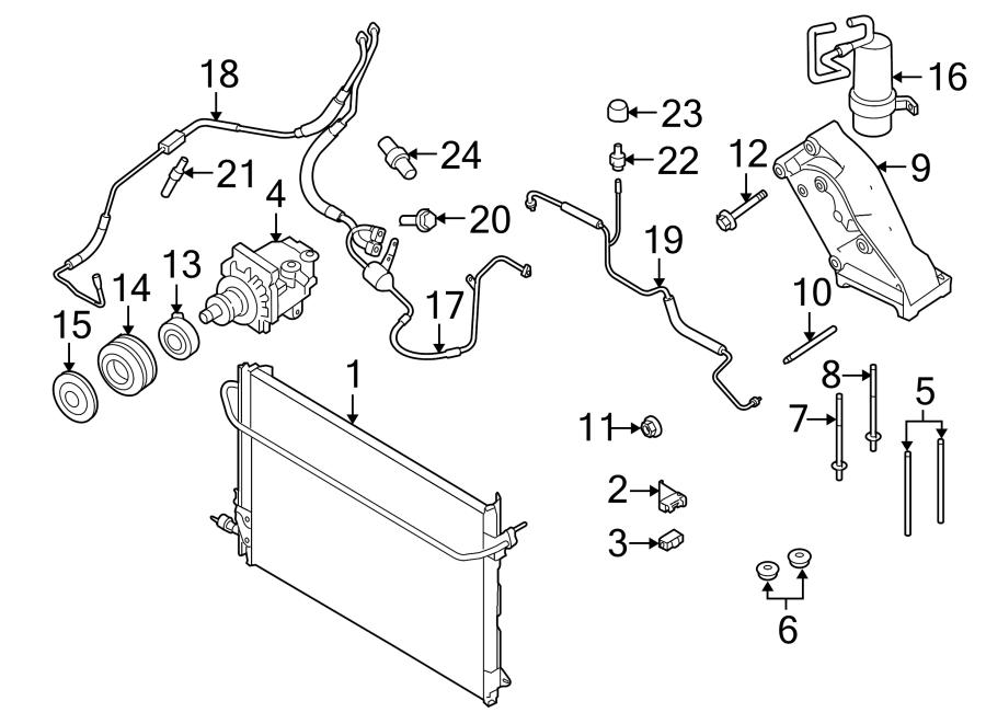 Ford E-450 Super Duty Air conditioning (a/c) compressor