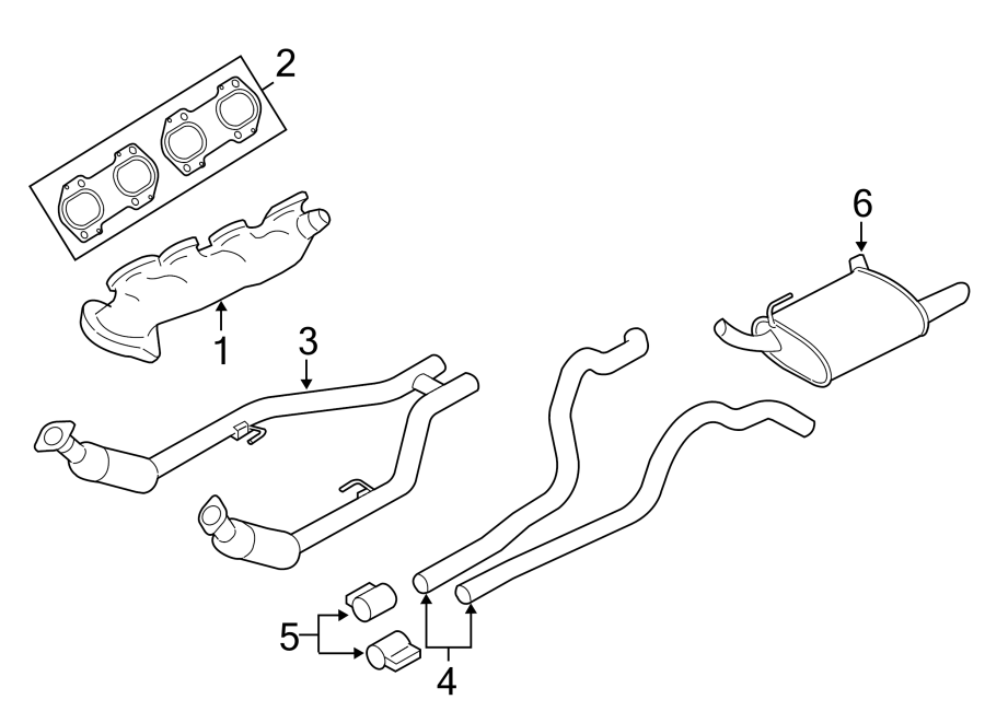 Ford Mustang Exhaust Manifold. 4.6 LITER. Mustang; 4.6L