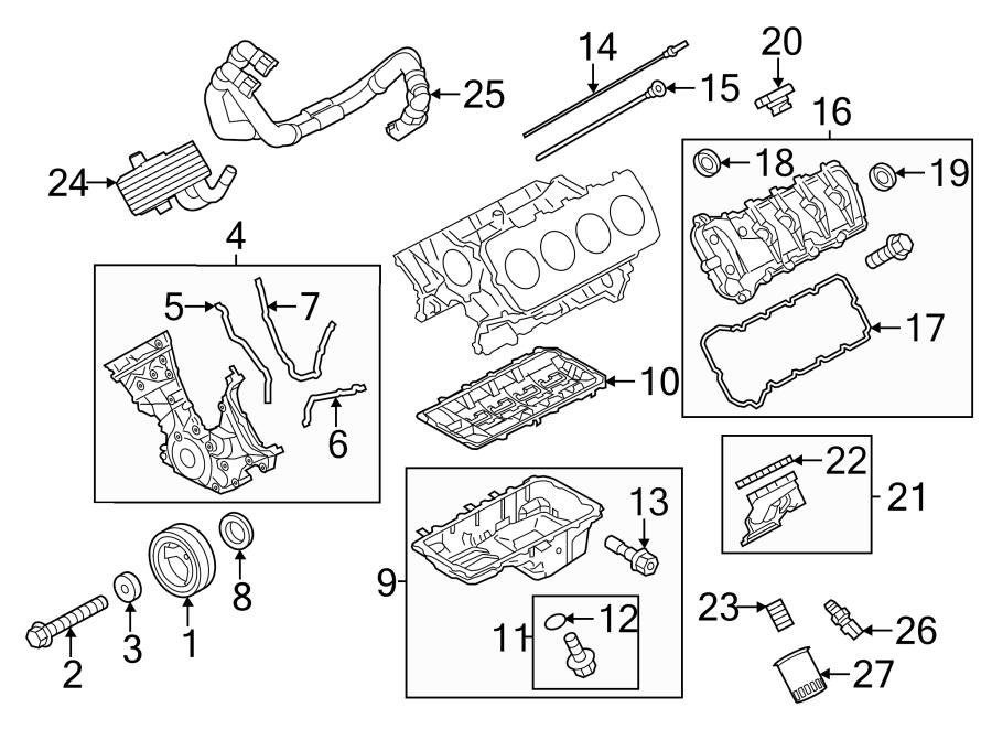 Ford Mustang Engine Crankshaft Pulley Washer. Engine