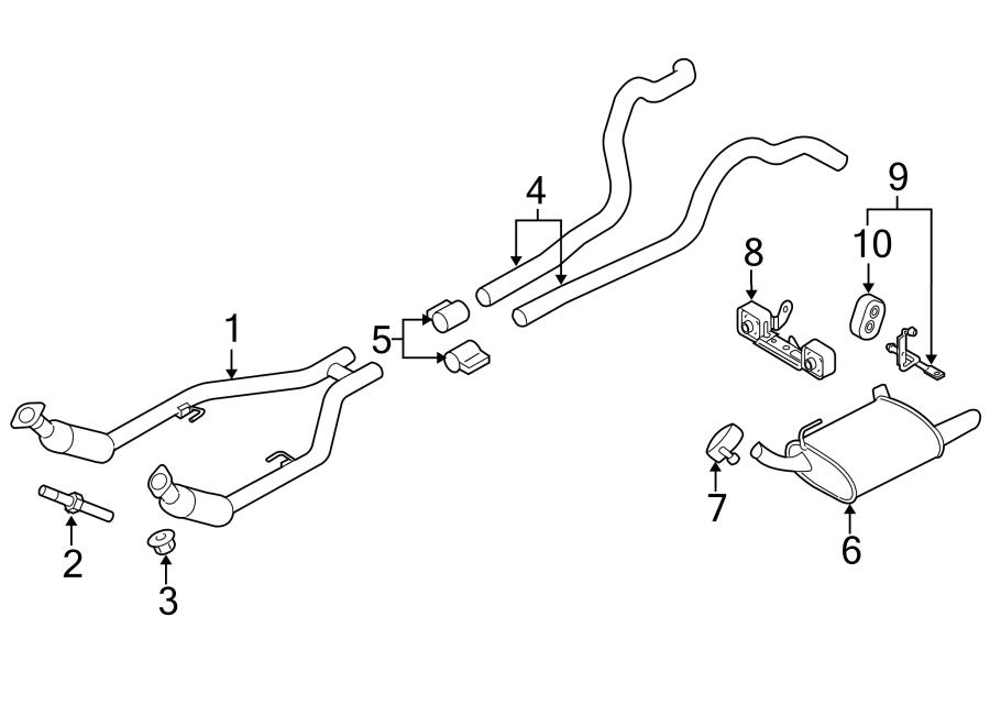 Ford Mustang Exhaust System Hanger Bracket. LITER, Left