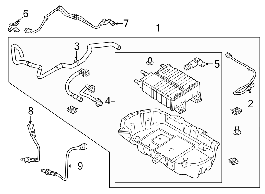 Ford Mustang Wire assembly. Included with: vapor canister