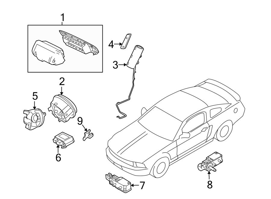 Ford Mustang Air Bag Clockspring. MODULES, SENSORS