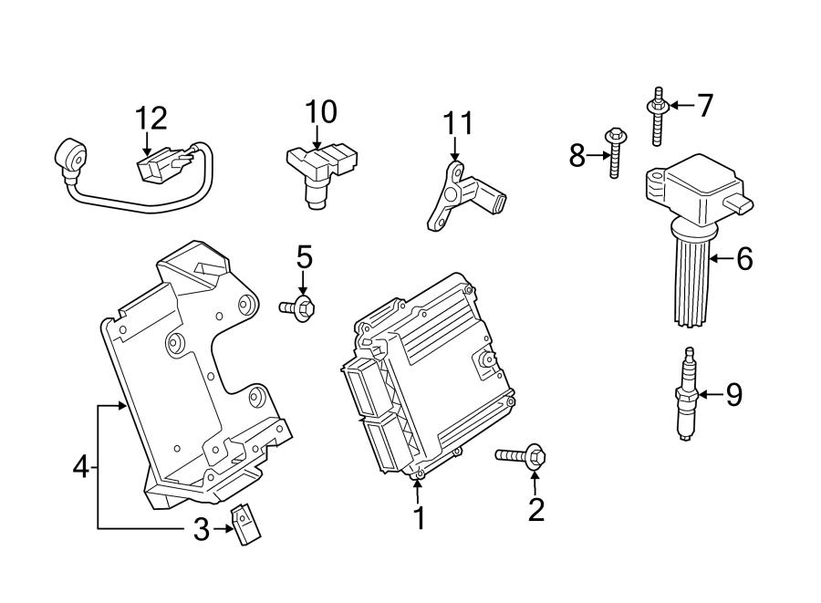 Ford Mustang Engine Control Module Bracket. 2.3 LITER. 3.7