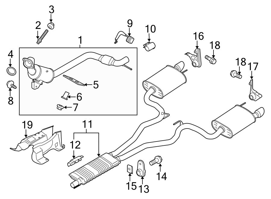 Ford Mustang Insulator. Bracket. Hanger. Muffler. 2.3