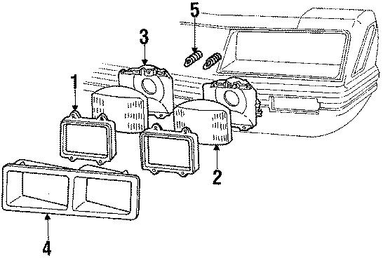 Ford Mustang Headlight Adjusting Spring. 1985-86. 1988-91