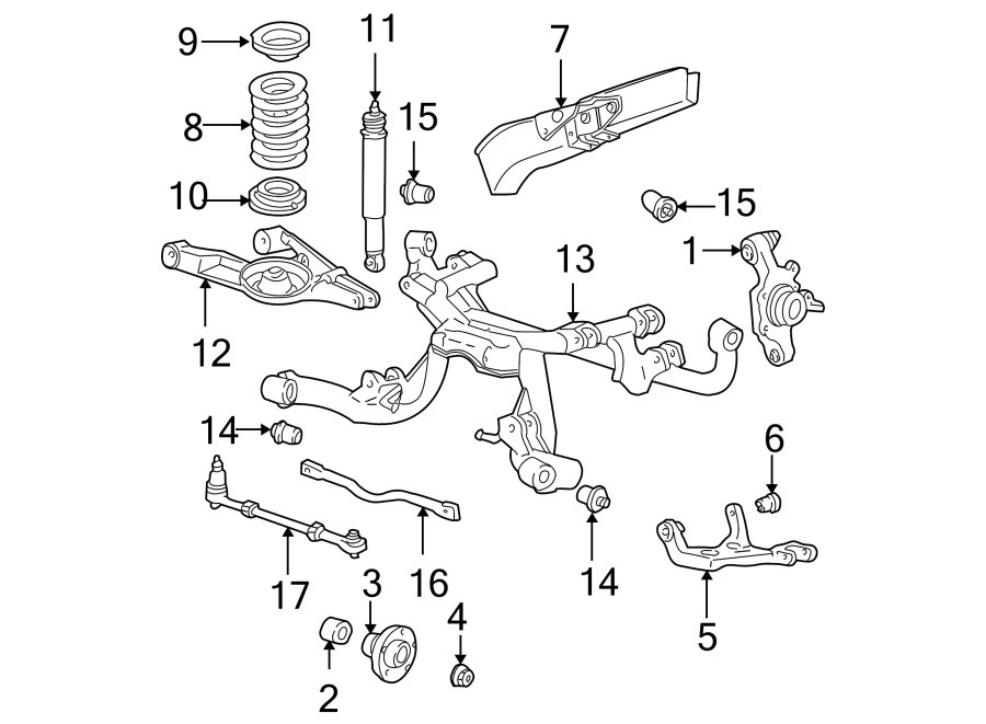 Ford Mustang Wheel Bearing. SUSPENSION, COMPONENTS