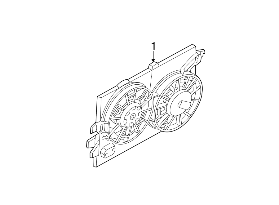 Ford Focus Engine Cooling Fan Assembly. RADIATOR, DOHC