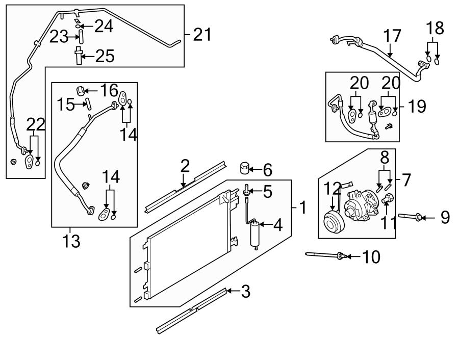 Ford Focus Air conditioning (a/c) refrigerant suction hose