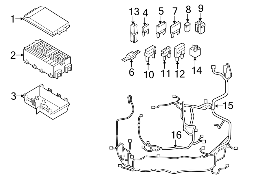 Ford Focus Fuse. Resistor, COMPARTMENT, Parallel