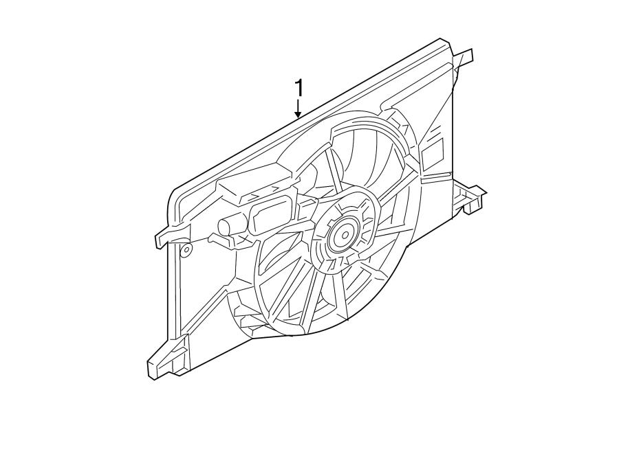 Ford Focus Engine Cooling Fan Assembly. RADIATOR, LITER