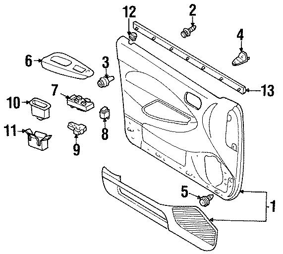 Ford Escort Door Window Switch. Left, INTERIOR, TRIM