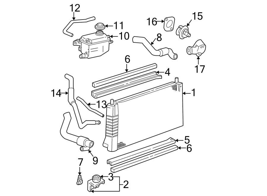 Ford Taurus Radiator Coolant Hose. OHV, LITER, Upper