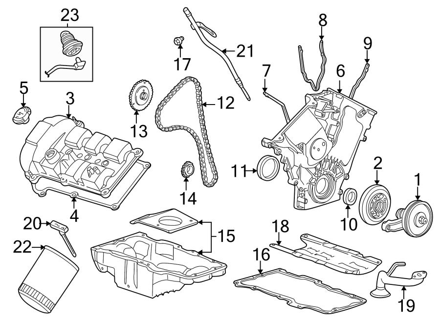 Ford Taurus Engine Crankshaft Pulley. 3.0 LITER DOHC