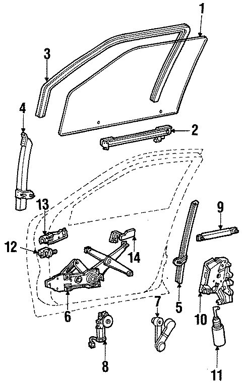 Ford Taurus Door Lock Actuator Motor. FRONT, Doesn, Left