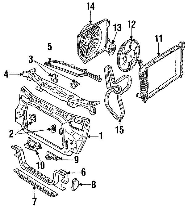 Ford Taurus Serpentine Belt. LITER, BELTS, Cooling