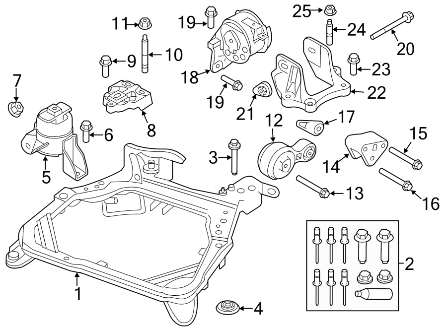 Ford Fusion Engine Mount Bracket. 2.5 LITER, AUTO TRANS. 2