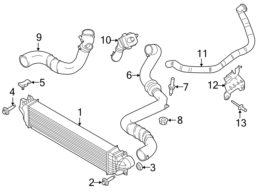 Ford Fusion Turbocharger Intercooler Pipe. Acceleration